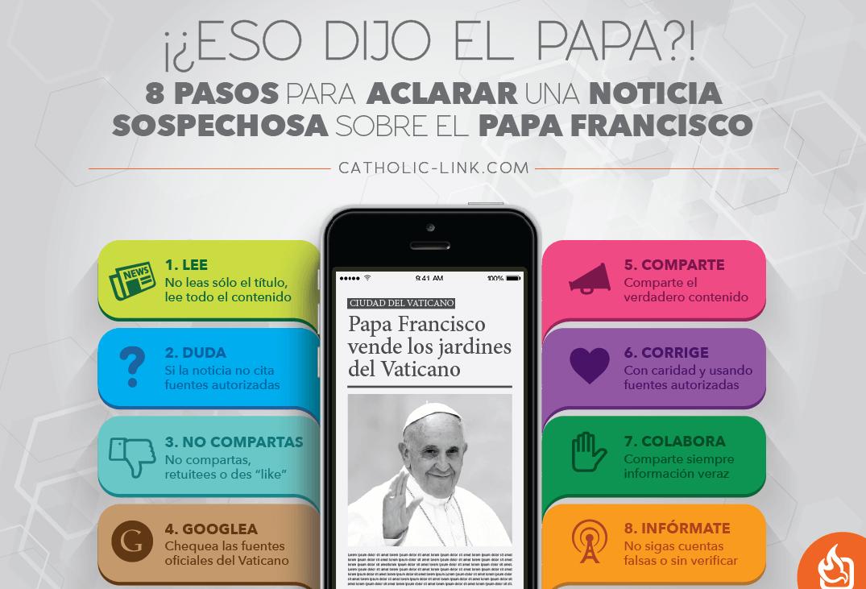 8 pasos para aclarar las noticias sobre el Papa Francisco